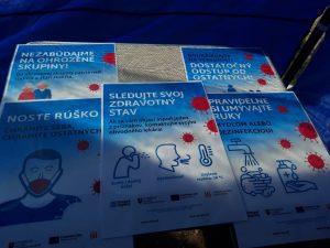 Tlačená informačná kampaň organizácie Zdravé regióny, zameraná na boj proti pandémii COVID-19